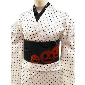 織美桐 リバーシブル 細帯 半幅帯 小袋帯 全9タイプ ho-38 ハロウィン 雪だるま 音符 koyuki 04