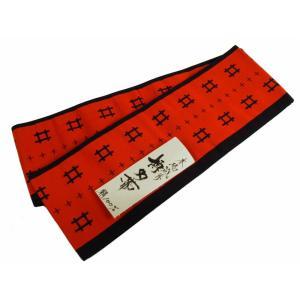 博多小袋帯 博多帯 伝統工芸 お洒落用 正絹 細帯 小袋帯 朱赤系 ho-76|koyuki