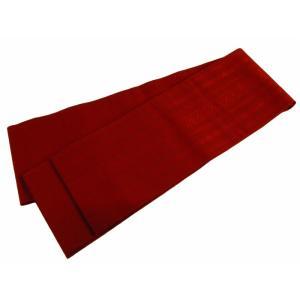博多小袋帯 博多帯 伝統工芸 お洒落用 正絹 献上柄 細帯 小袋帯 赤茶系 ho-77|koyuki