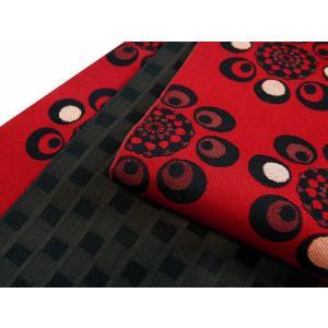 お洒落 リバーシブル 細帯 半幅帯 小袋帯 全8タイプ ho-79 八丸柄|koyuki|11