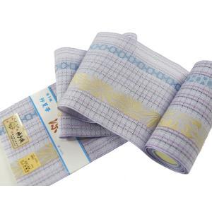 博多帯 正絹 紗 四寸夏帯 博多証紙付 帯幅16cm sy-14 ラベンダー|koyuki