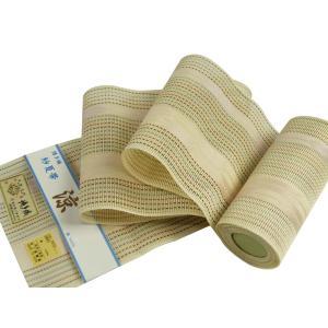 博多帯 正絹 紗 四寸夏帯 博多証紙付 帯幅16.5cm sy-21 ベージュ|koyuki