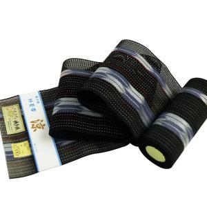 博多帯 正絹 紗 四寸夏帯 博多証紙付 帯幅16.0cm sy-22 ブラック|koyuki