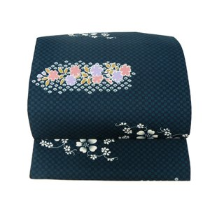 お洒落用 簡単つけ帯 軽装帯 濃紺系 市松 絞り柄 tp-41|koyuki|02
