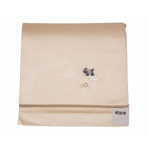 お洒落用 簡単つけ帯 軽装帯 犬刺繍入り tp-65|koyuki