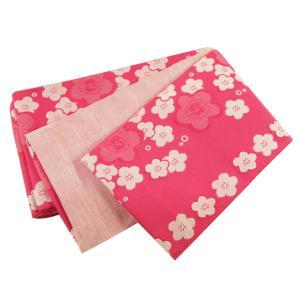 織柄入り 袴下帯 半幅帯 小袋帯 日本製 ピンク ho-3-E koyuki