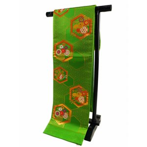 ジュニア用 七五三 正絹 袋帯 緑系 jh-158|koyuki