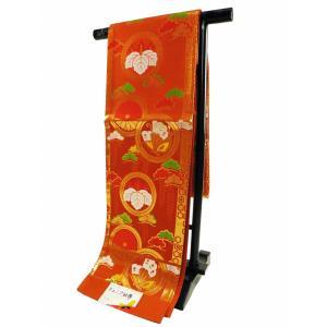 ジュニア用 七五三 正絹 袋帯 茶系 jh-168|koyuki
