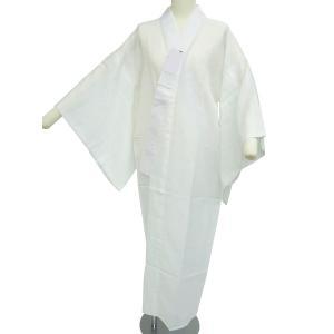 お仕立て上がり 半衿付 夏用 紋紗 長襦袢 白 M・Lサイズ 麻混合 通気性 さらさら肌触り np-36|koyuki