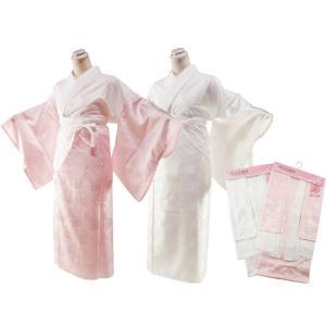 おまかせ織柄 半衿・えもん抜付 二部式長襦袢 M・Lサイズ ピンクor白 js-4|koyuki
