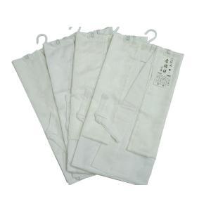 日本製 二部式 長襦袢 バチ衿 織柄入り ホワイト M Lサイズ 柄はおまかせ js-10|koyuki