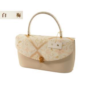 白梅 礼装用 きものバッグ 正絹帯地 和装バッグ ハンドバッグ ba-397|koyuki