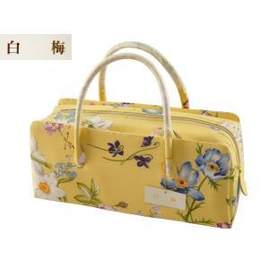 白梅 正絹 花柄 利休バッグ 手提げ ハンドバッグ ri-380|koyuki
