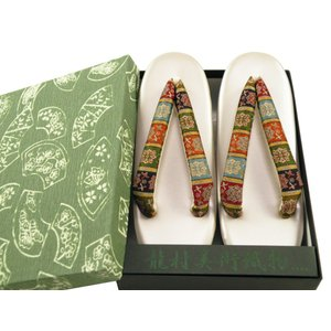 龍村美術織物 二枚芯 正絹使用鼻緒 草履 フリーサイズ zr-636 グレー|koyuki