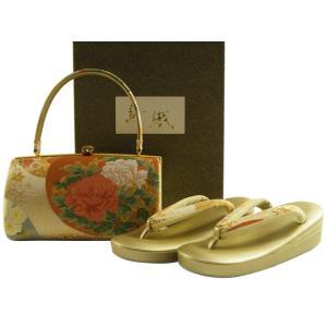 紗織 礼装用 正絹帯地 三枚芯 草履バッグセット Lサイズ パールトーン加工済 sr-86 koyuki