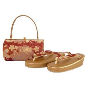 振袖用 帯地使用 金刺繍入り 草履バッグセット Sサイズ sr-341|koyuki