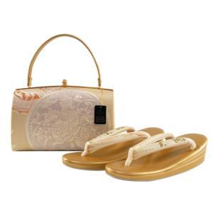 金鷲本舗 礼装用 西陣 正絹帯地 三枚芯 草履バッグセット フリーサイズ sr-342 koyuki