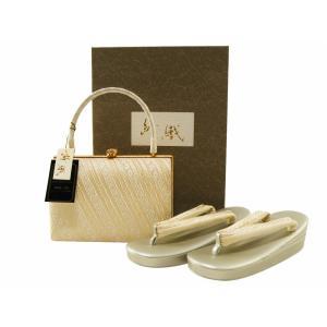 紗織 礼装用 帯地 三枚芯 草履バッグセット Mサイズ パールトーン加工済 sr-465|koyuki