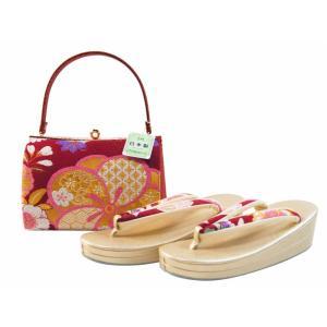 振袖用 正絹 帯地 金刺繍 日本製 二枚芯 草履バッグセット フリーサイズ sr-492|koyuki