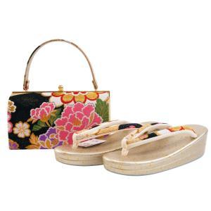 振袖用 帯地 金刺繍入り 草履バッグセット Lサイズ 日本製 sr-507|koyuki