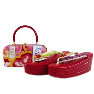 振袖用 帯地 金刺繍入り 4段重ね 草履バッグセット フリーサイズ 日本製 sr-509|koyuki