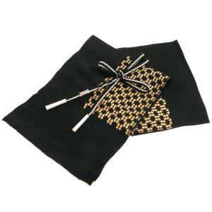 夏用 正絹 絽 帯締め 帯揚げ 2点セット 黒地 na-490|koyuki