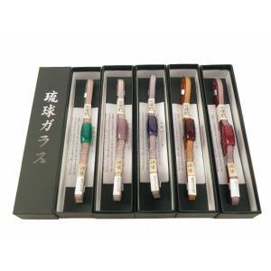 無形文化財 五嶋紐 琉球ガラス 帯留付 泥染 正絹 帯締め 2点セット 全5色 ss-179|koyuki