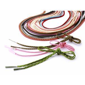 洒落用 丸ぐけ 正絹 帯締め 色柄おまかせ ss-193|koyuki