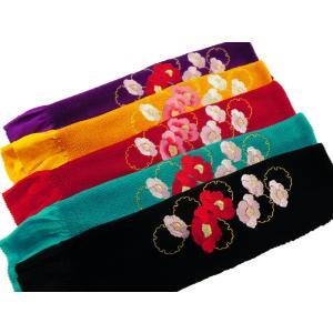 振袖用 つばき刺繍 正絹 四ッ巻 絞り 帯揚げ 全5色 ah-62|koyuki