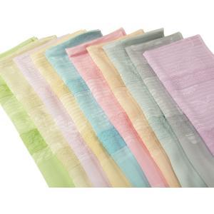 夏用 絽 レース付き 正絹 織り柄入り 帯揚げ 単品 全9色 ah-95|koyuki