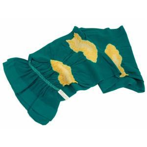 訳あり 振袖用 正絹 絞り 帯揚げ 青緑 ah-113|koyuki
