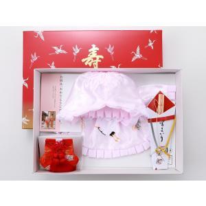 bai お宮詣り フードセット 4点セット 女の子用 ピンク 日本製 1h-14|koyuki