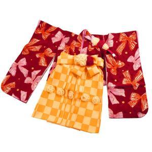 hakka kids ベビー袴セット 女の子用 ベビー 着物 はかま 赤ちゃん100日 1才 2才 1h-21|koyuki