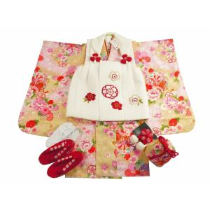 花ひめ 七五三 3歳女の子 着物 10点セット 被布コートセット 桜 hp-11|koyuki