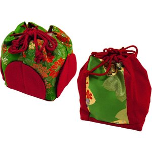 七五三 子供用 金刺繍 バッグ 巾着バッグ 単品 緑系 sb-10|koyuki
