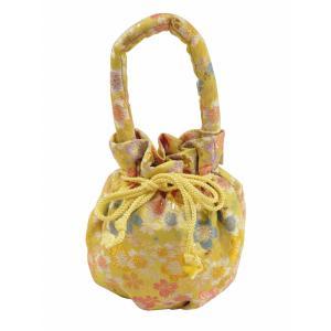 七五三 子供用 金刺繍 バッグ 巾着バッグ 単品 黄色系 sb-15|koyuki