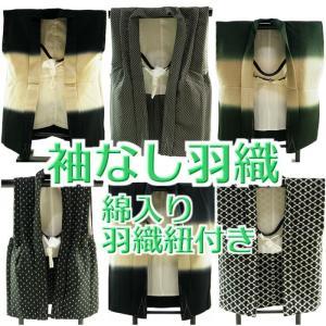 子ども用 袖なし 羽織 綿入り 羽織紐付き 単品 全9タイプ dh-15|koyuki