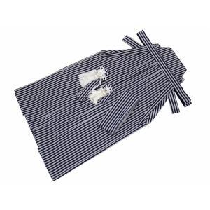 男の子 七五三 袴セット 紺とグレー 縞 全5サイズ dk-32|koyuki