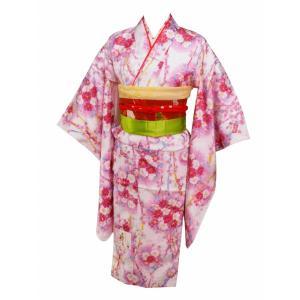 7歳用 総柄 刺繍半衿付き 四ッ身着物 襦袢付き 白着物 花柄 7kk-59|koyuki