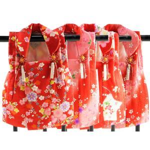 三歳用 正絹 被布コート 赤系 hn-72 全4柄|koyuki