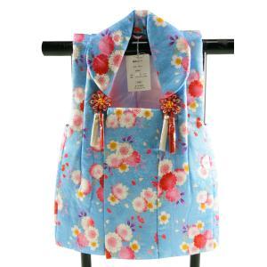 三歳用 正絹 被布コート ブルー系 hn-73|koyuki