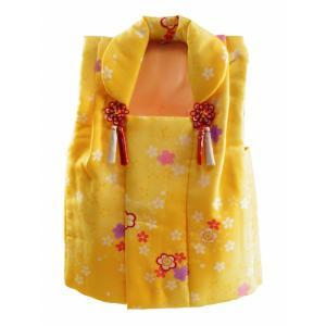 三歳用 被布コート うめ 金加工入り 黄色系 hn-83|koyuki