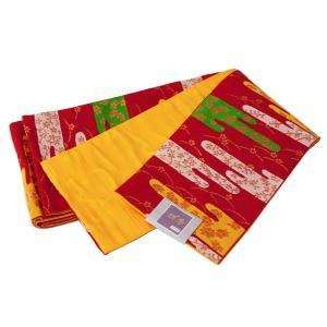 四季 帯巾15cm 細帯 半幅帯 リバーシブル 小袋帯 日本製 bo-127-1|koyuki