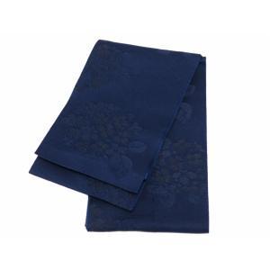 訳あり 織柄入り 浴衣帯 半幅帯 紺色 bo-211-19|koyuki