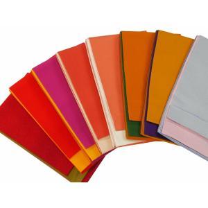 細帯 半幅帯 無地 リバーシブル 小袋帯 浴衣帯 全8色 bo-219|koyuki