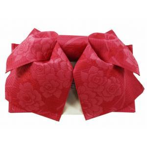 浴衣用 作り帯 織柄入り 結び帯 ローズ 薔薇 her-104-9|koyuki