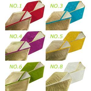 小桜 織柄入り 正絹 リバーシブル 重ね衿 全14色 プラス金と銀 ks-18 koyuki 02