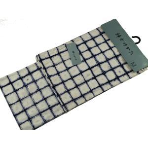 浴衣 紳士用 絞り浴衣 お仕立て上がり浴衣 単品 Lサイズ  mp-29 白地に紺格子|koyuki