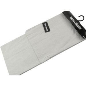 浴衣 紳士用 綿素材 変わり織り お仕立て上がり浴衣 単品 Lサイズ 淡鼠 mp-51|koyuki