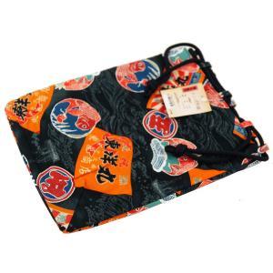 巾着 紳士用 信玄袋 平袋 紺地 ms-10 日本製|koyuki